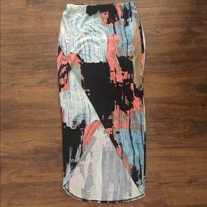 Like New Print Pencil Skirt With Slit